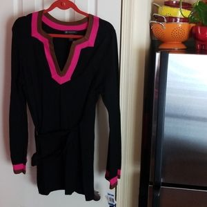 INC Belted Sweater